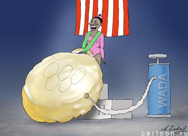 Карикатура: Олимпийский чемпион, Александр Зудин