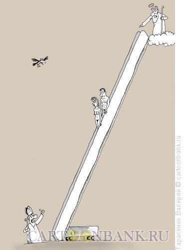 Карикатура: Между небом и землей, Тарасенко Валерий