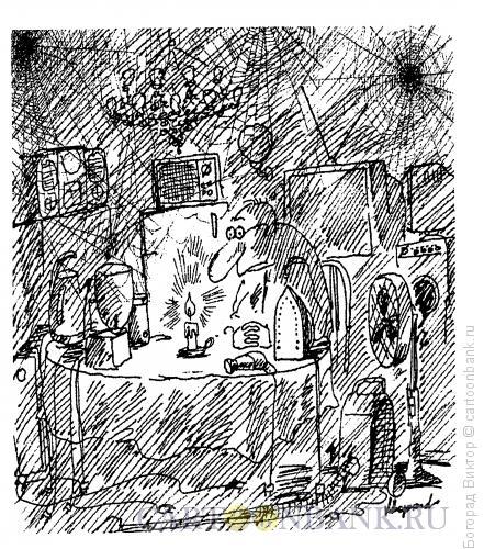 Карикатура: Пока горит свеча, Богорад Виктор