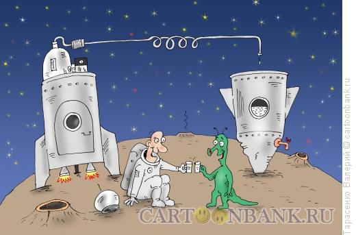 Карикатура: Космический аппарат, Тарасенко Валерий