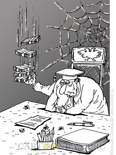 Карикатура: Рука берущая, Мельник Леонид