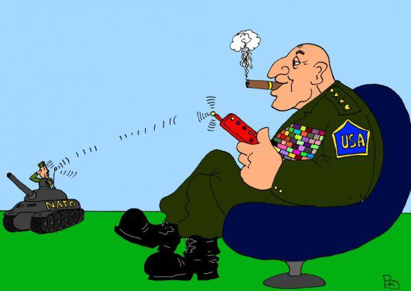 Карикатура: Любимая игрушка, Валерий Каненков