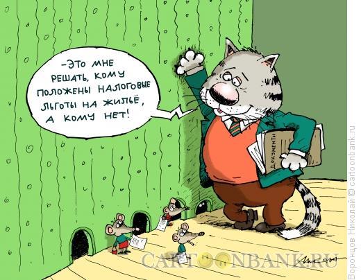 Карикатура: Налоговые льготы, Воронцов Николай