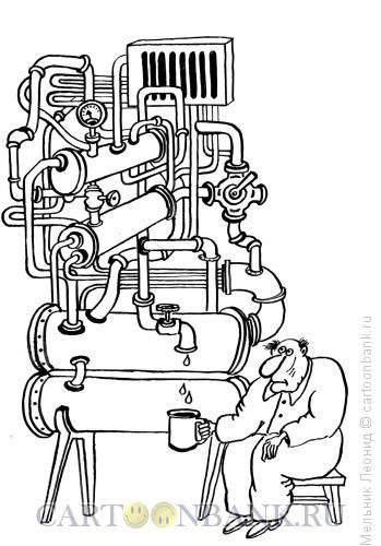 Карикатура: Самогонщик, Мельник Леонид