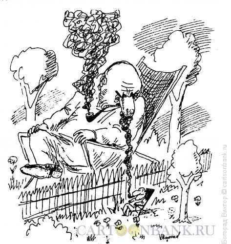 Карикатура: Курильщики, Богорад Виктор