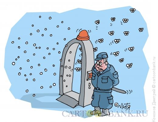 Карикатура: строгий охранник, Кононов Дмитрий