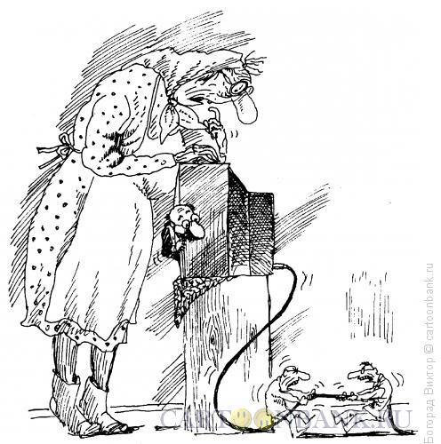 Карикатура: Борьба за эфир, Богорад Виктор
