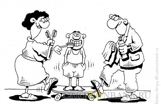 Карикатура: Чистка зубов, Кийко Игорь