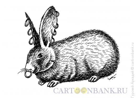Карикатура: кролик с серьгами, Гурский Аркадий
