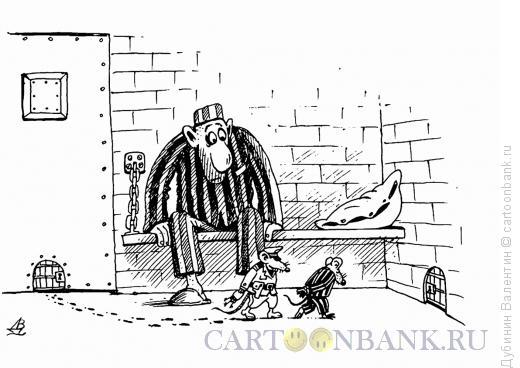 Карикатура: Сосед по камере, Дубинин Валентин