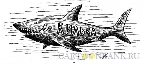 Карикатура: акула-килька, Гурский Аркадий