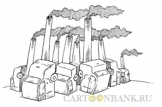 Карикатура: Трубы дымят, Смагин Максим