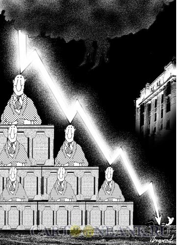 Карикатура: Стрелочник, Богорад Виктор