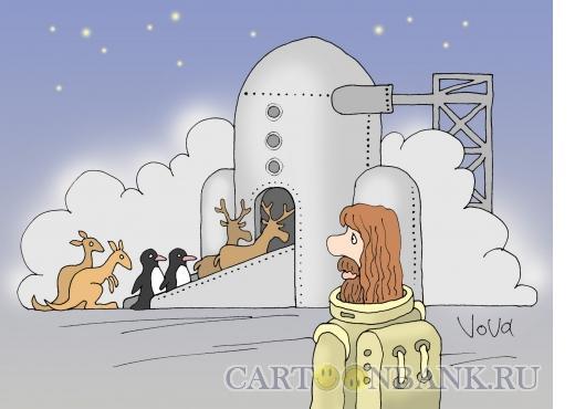 Карикатура: Ковчег будущего, Иванов Владимир