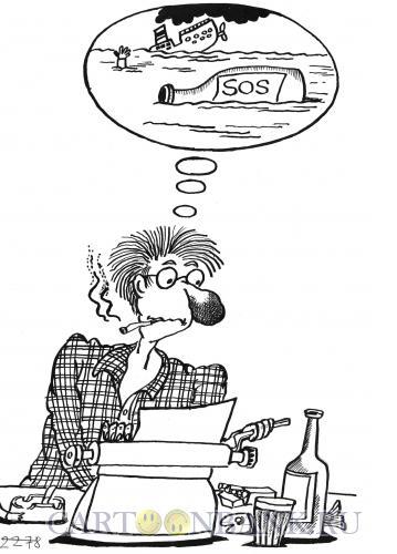 Карикатура: писатель, Мельник Леонид