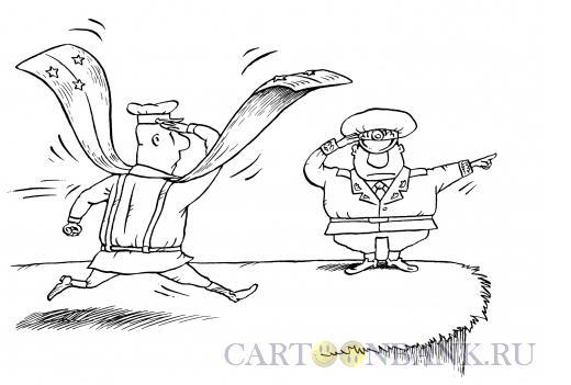 Карикатура: Приказ: лететь!, Смагин Максим