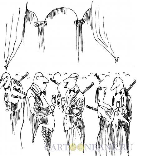 Карикатура: Светский прием, Богорад Виктор