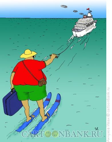 Карикатура: путешественик, Анчуков Иван
