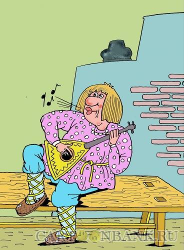 Карикатура: Иванушка-дурачок, Мельник Леонид