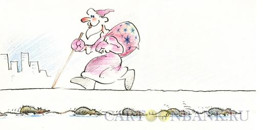 Карикатура: крысы бегут с корабля, Осипов Евгений