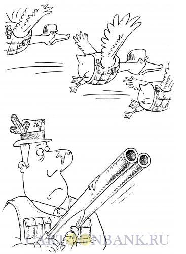 Карикатура: Птичьи бронежилеты, Смагин Максим