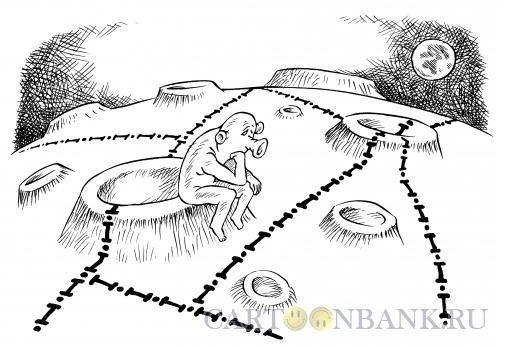 Карикатура: Лунные границы, Смагин Максим