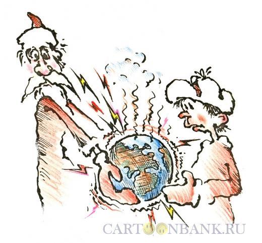 Карикатура: передача Земли, Осипов Евгений