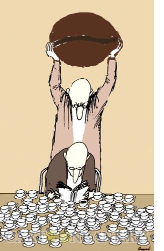 Карикатура: Кофе в большом количестве, Богорад Виктор