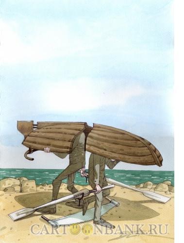 Карикатура: Раздел наследства, Дергачёв Олег