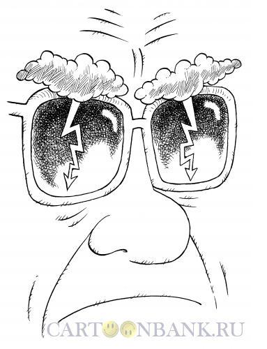 Карикатура: Брови-тучи, Смагин Максим