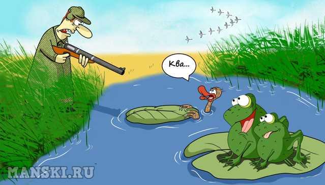Карикатура: Охота на уток., Игорь Иманский