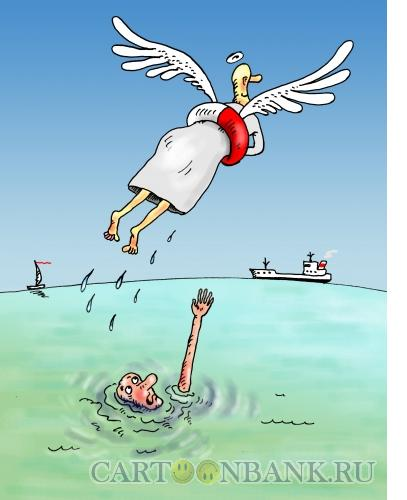 Карикатура: Спасение души, Тарасенко Валерий
