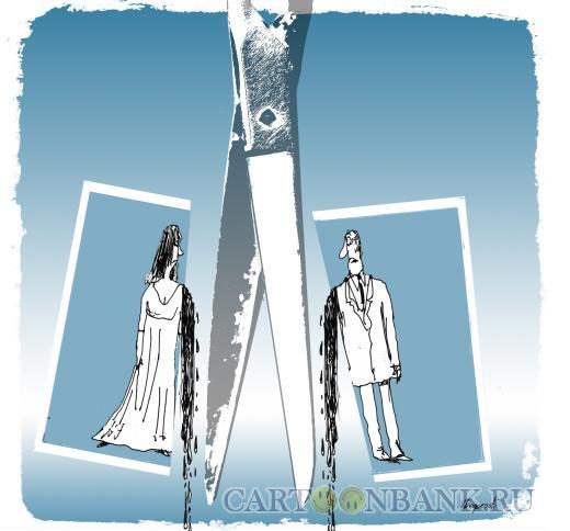 Карикатура: Развод, Богорад Виктор