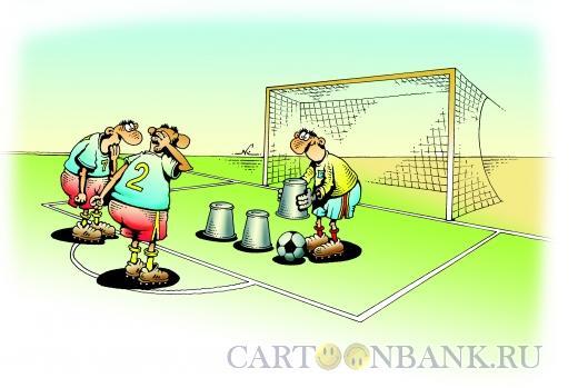 Карикатура: Вратарь - шарик-малик, Кийко Игорь