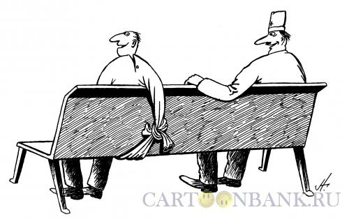 Карикатура: сумасшедший и доктор, Гурский Аркадий