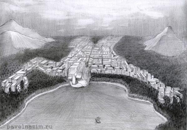 Карикатура: Город., Павел Назим
