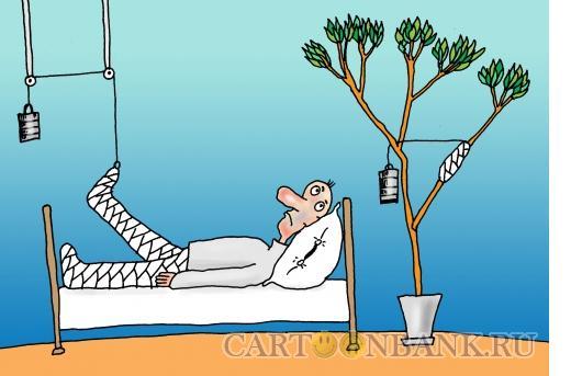 Карикатура: Двойной перелом, Тарасенко Валерий