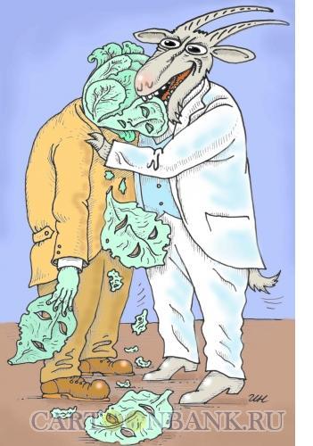 Карикатура: Лицедей, Никитин Игорь