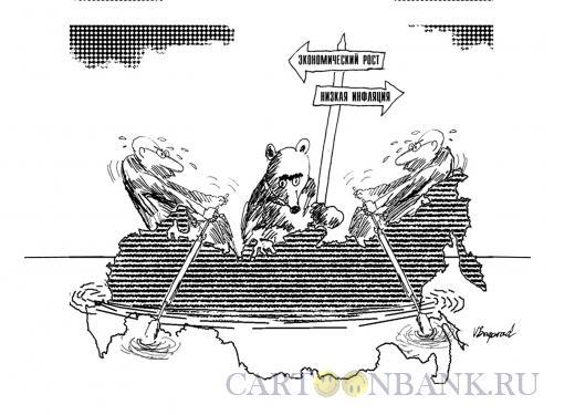 Карикатура: Куда плыть?, Богорад Виктор