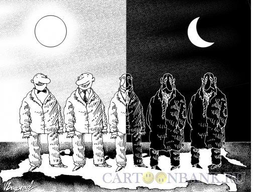 Карикатура: Россия- страна оптимистов и пессимистов, Богорад Виктор