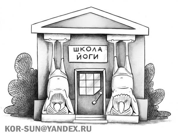 Карикатура: Школа йоги, Сергей Корсун