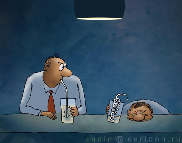 Карикатура: змееввик, Александр Зудин