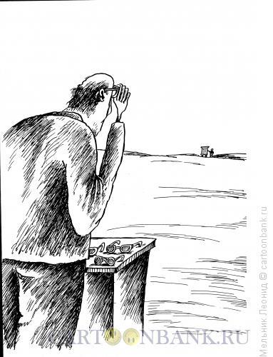 Карикатура: Проверка зрения, Мельник Леонид