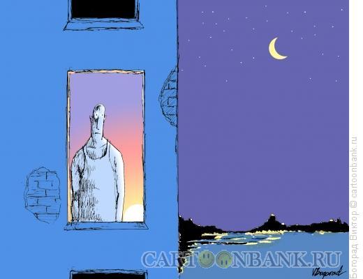 Карикатура: Личное утро, Богорад Виктор