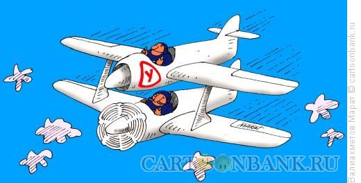 Карикатура: Учебный самолет, Валиахметов Марат