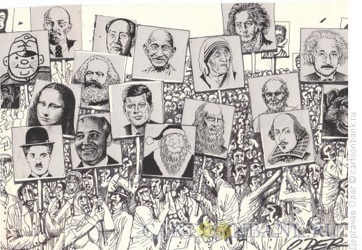 Карикатура: Украинские выборы, Дергачёв Олег