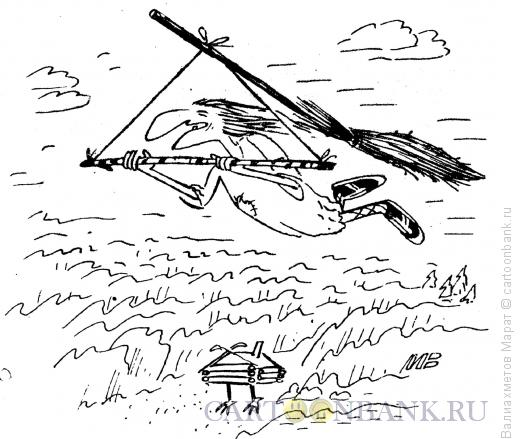 Карикатура: Дельтаплан-метла, Валиахметов Марат