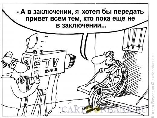 Карикатура: В заключении, Шилов Вячеслав