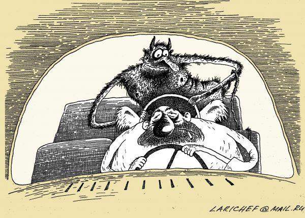 Карикатура: черт попутал, михаил ларичев