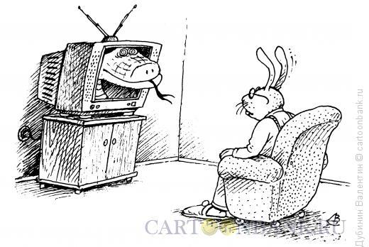 Карикатура: Гипноз, Дубинин Валентин